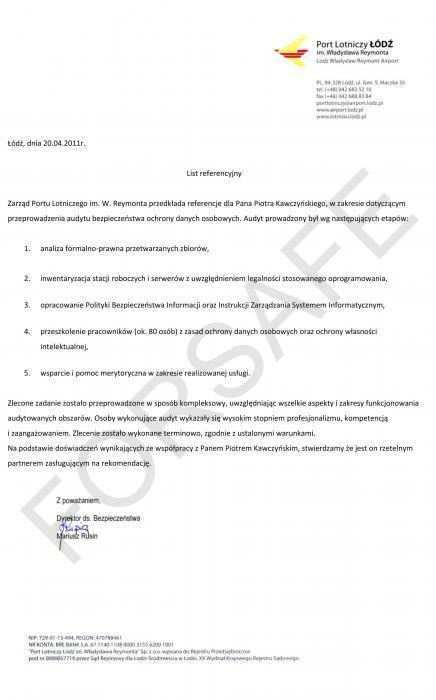 <p>Audyt legalności oprogramowania i ochrony danych osobowych</p>