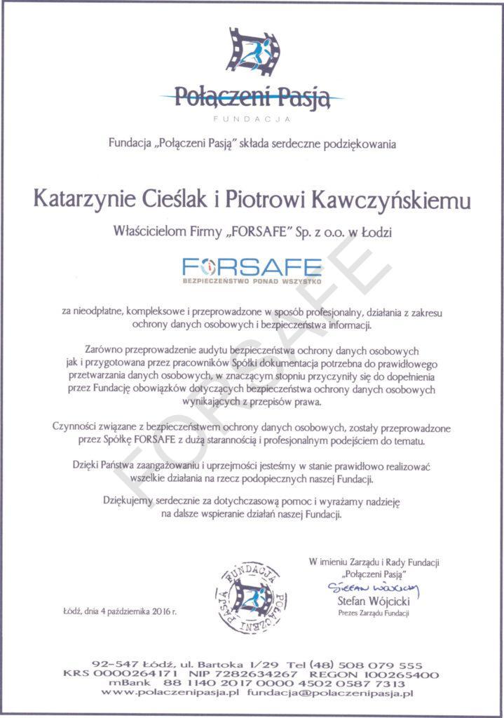 <p>Wdrożenie systemu ochrony danych osobowych</p>