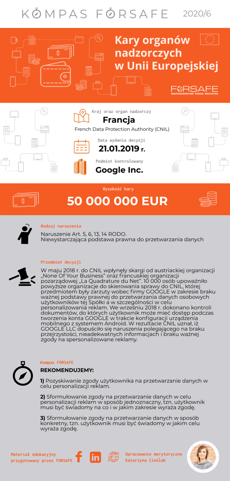 kompas forsafe 6 KOMPAS FORSAFE EU 2020/6 - Kara dla Google