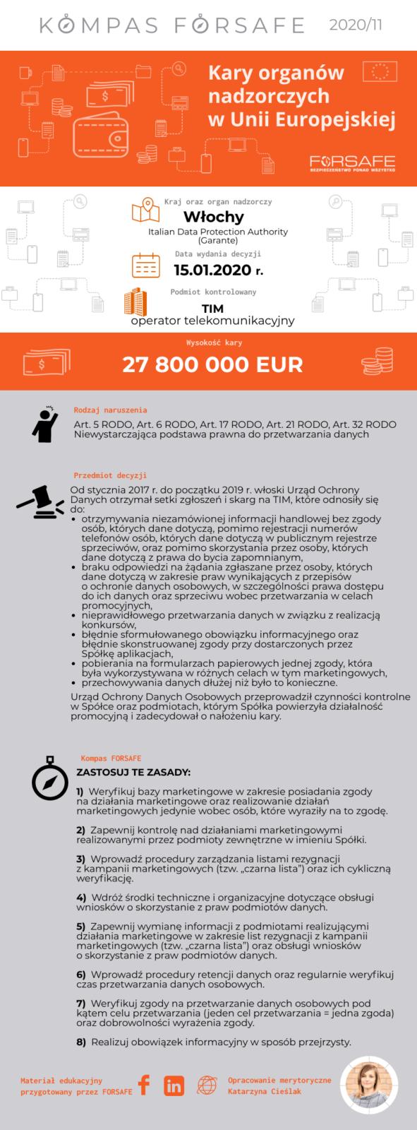 kompas forsafe eu 2020 11 KOMPAS FORSAFE EU 2020/11 - Kara dla TIM