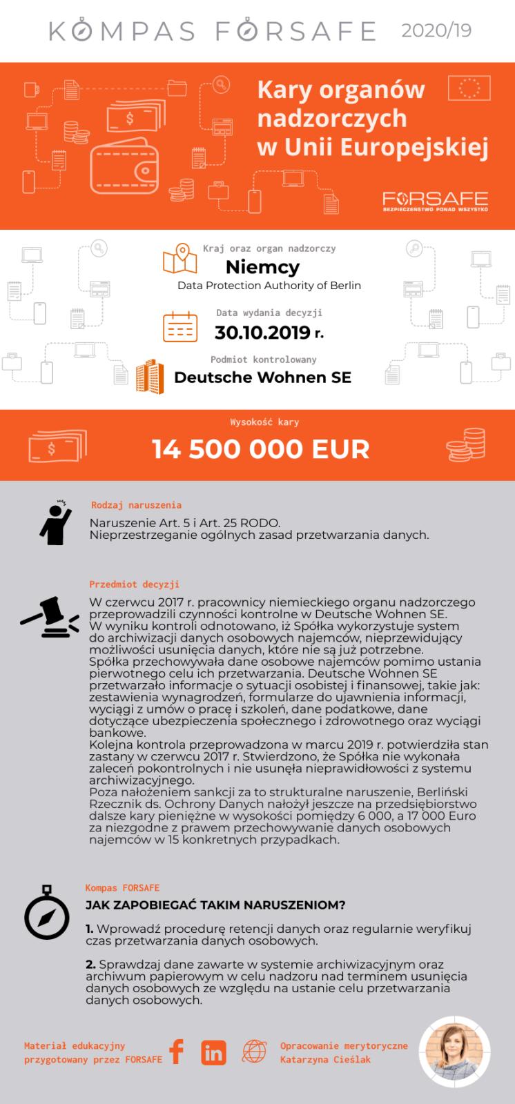 kompas forsafe eu 19 KOMPAS FORSAFE EU 2020/19 - Kara dla Deutsche Wohnen SE