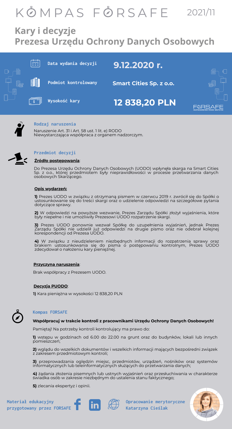 Kompas FORSAFE PL 2021 11 KOMPAS FORSAFE PL 2021/11 - Kara dla Smart Cities Sp. z o.o.