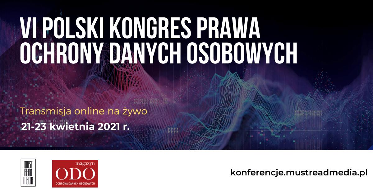 odo2021new 2 FORSAFE Partnerem merytorycznym VI Polskiego Kongresu Prawa Ochrony Danych Osobowych